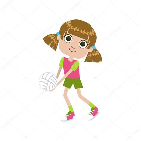 dibujos de niños jugando voleibol ni 241 a jugando voleibol vector de stock 169 topvectors