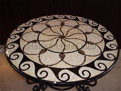 round mosaic pattern ideas marble mosaic table top patterns round design bookmark