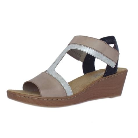 comfortable sandals for women rieker antistress key largo women s comfortable beige