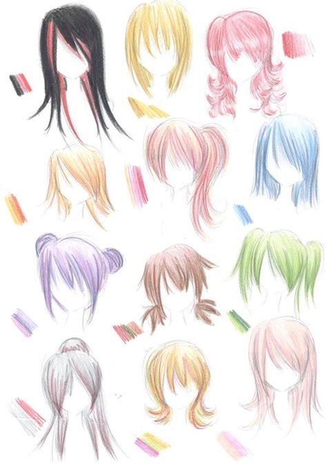 anime hairstyles on humans les 25 meilleures id 233 es de la cat 233 gorie dessins de fille