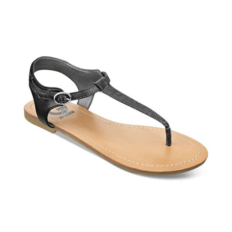 black sandals g by guess womens luzter tstrap flat thong sandals in