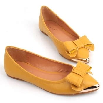 mustard colored flats 6 beautiful flat shoes with bow detail