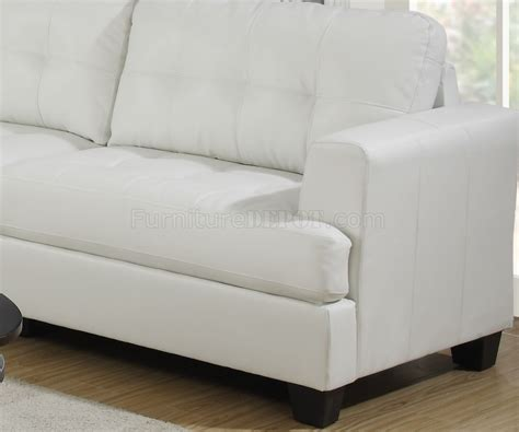 g677 sofa loveseat in white bonded leather by glory