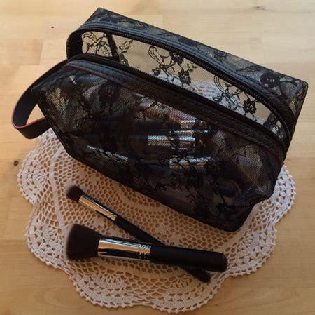 Lace Bag lace and vinyl makeup bag spooky box club