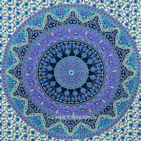 Light Blue Tapestry by Small Blue Indian Psychedelic Hippie Boho From Royal Furnish
