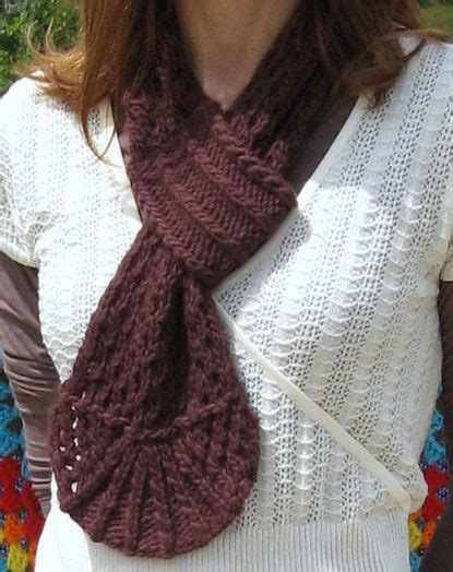 knitting pattern scarf loop self fastening scarves and shawls knitting patterns in