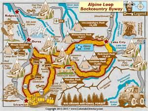 alpine loop colorado map alpine loop backcountry scenic byway map colorado