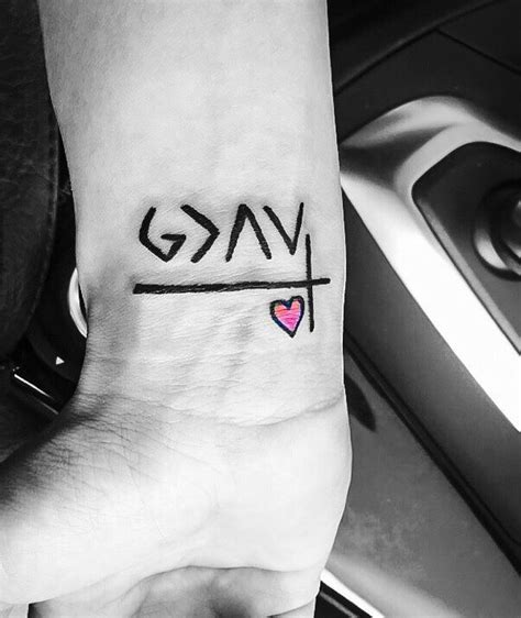 tattoo god is greater than the highs and lows tattoos