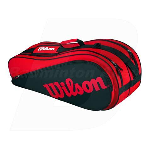 wilson racket badminton tennis bag black