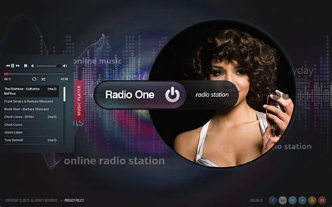 template powerpoint radio radio one radio station html5 template 300111662 on behance