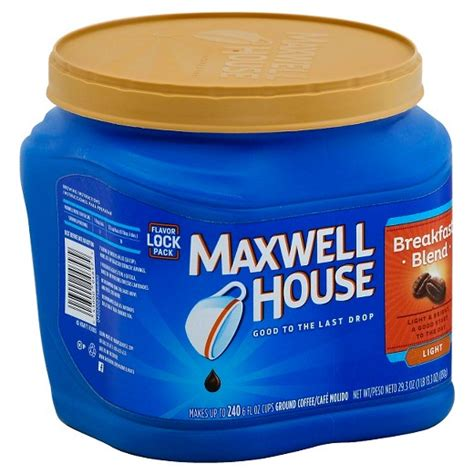 maxwell house coffee review maxwell house 174 breakfast blend light roast ground coffee 25 6oz target