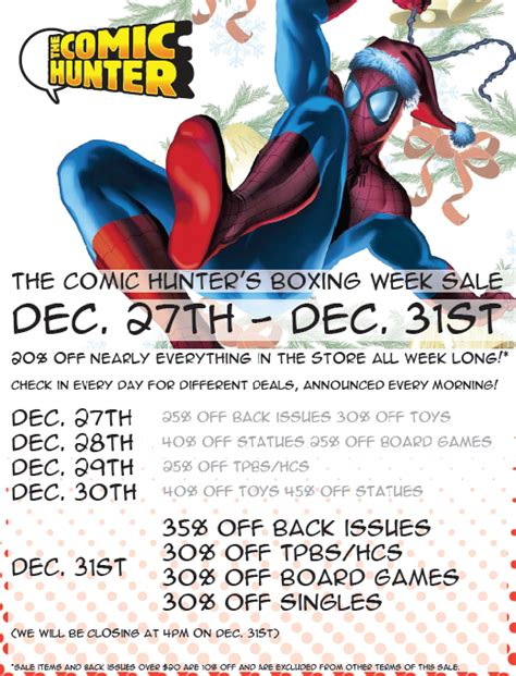 Gamis Jhoda the comic moncton last day of the boxing week sale