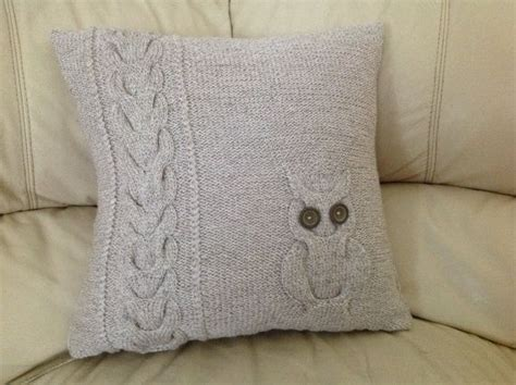 knitted owl cushion knitted cushion cover owl