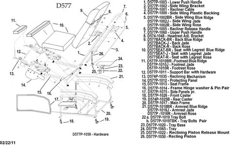 La Z Boy Recliner Parts List by Lazy Boy Recliner Parts Diagram Automotive Parts Diagram