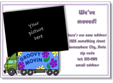 free moving announcement cards templates business moving announcements announce a new business
