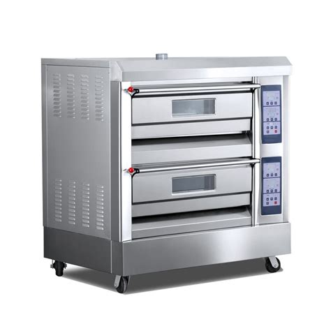 Oven Gas 2 Tray 2 Decks 4 Trays 600x400mm 350 176 C Professional Gas Baking Oven Tt O38c