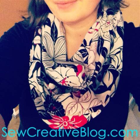 pattern for fabric infinity scarf tutorial how to sew an infinity scarf 30 minute project