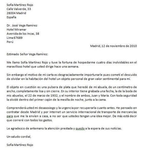 carta formal castellano c1 c2 modelo de carta personal formal carta para pedir la devoluci 243 n de un objeto de valor