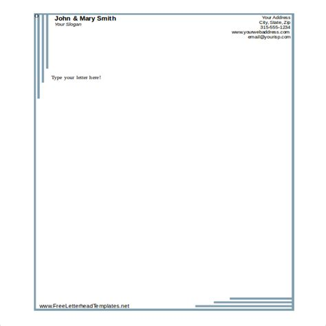 template for business letterhead 19 free letterhead templates in microsoft word