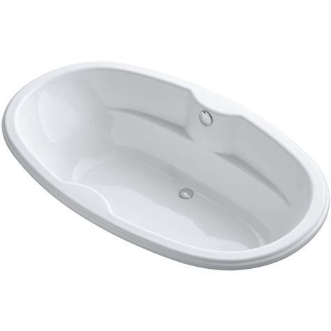 Oval Drop In Bathtub by Shop Kohler Proflex White Acrylic Oval Drop In Bathtub