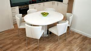Extendable Kitchen Table And Chairs Modern White Gloss Extending Dining Table And Chairs Seats 4 6