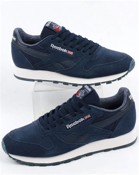 Reebok Classic Navy White reebok classic leather nm trainers navy white shoes mens