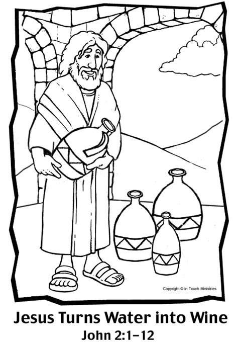 how to turn a picture into a coloring page in word water into wine coloring page
