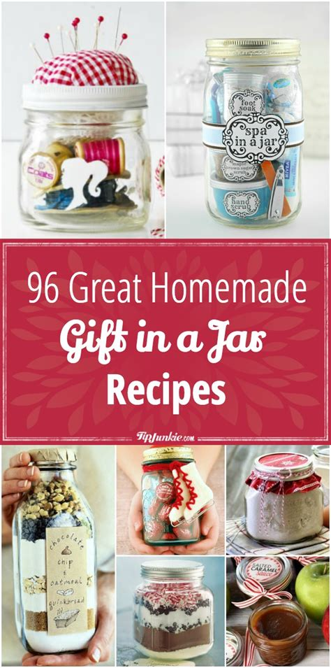 Great Handmade Gifts - 96 great gift in a jar recipes tip junkie