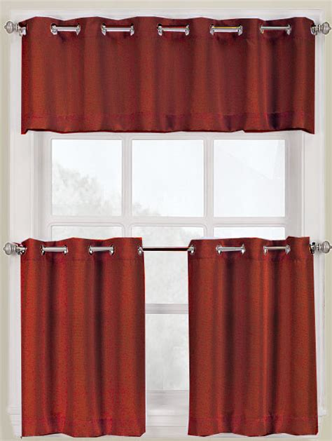 grommet valance curtains montego grommet kitchen curtains white lichtenberg