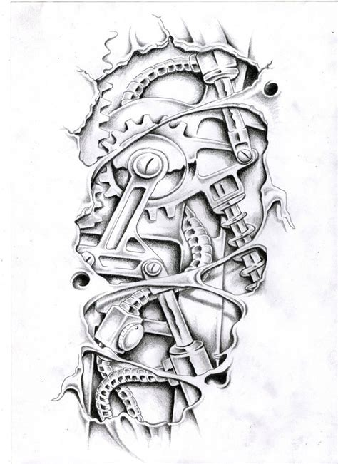 tattoo mechanical designs 25 best mechanical designs images on