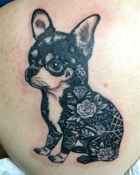 chihuahua tattoo chihuahua inked chihuahua floral