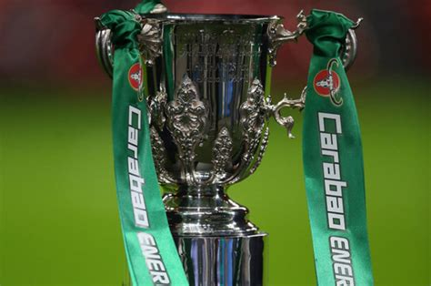 carabao cup draw  stream tv channel ball numbers