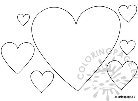 hearts shapes coloring page