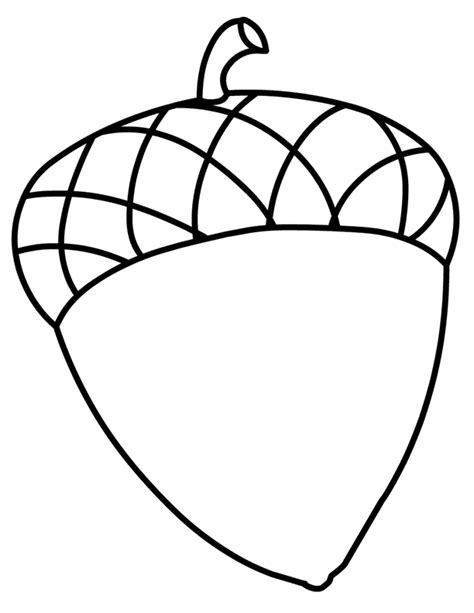 Acorn Coloring Pages acorn coloring pages for az coloring pages