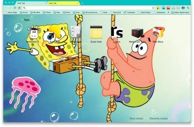 Theme Google Chrome Spongebob | 10 funny cartoon chrome themes spongebob simpsons