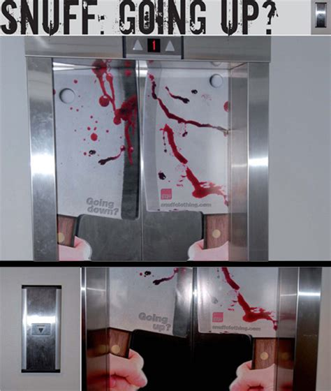 elevator death clever and creative elevator advertising