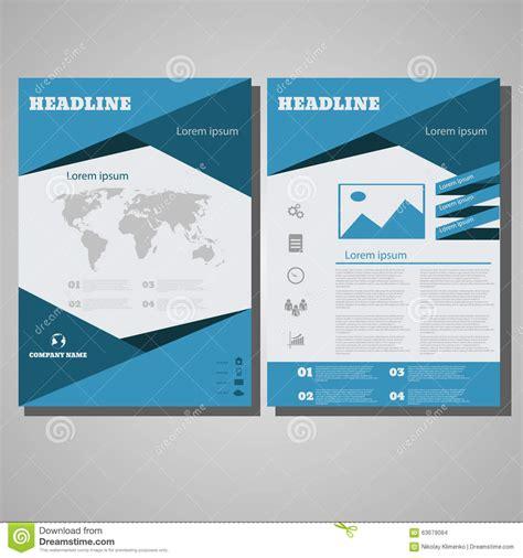 leaflet design size blue design brochure flyer design layout template size a4