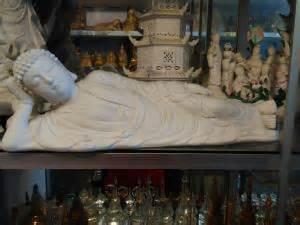 Keramik Halus jual patung budha tidur keramik halus 45cm dhammamanggala