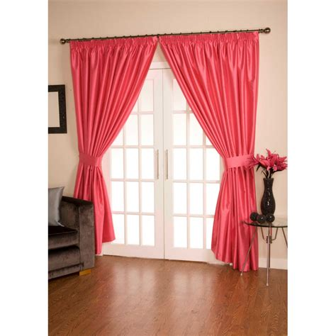 pink pleated curtains urban living como hot pink pencil pleated ready made
