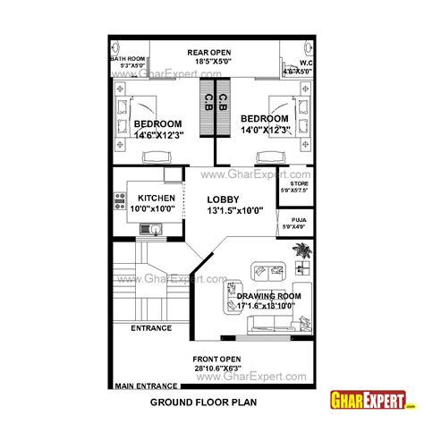 house plan for 28 feet by 32 feet plot plot size 100 house plan for 30 feet by 51 feet plot plot size 170