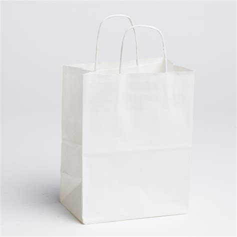 Paperbag Medium Size 26x10x32 paper shopping bags white medium a b store fixtures