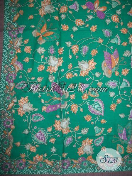 Aneka Sprei Motif Kupu motif kain batik kupu dan bunga warna tosca k1326p