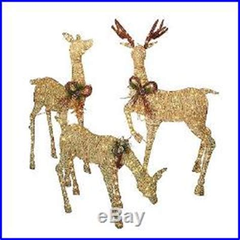 outdoor lighted deer family new 3 pc 490 lights lighted deer buck family inddor outdoor yard decor
