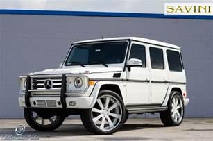 White Mercedes G Class G Wagen Savini Wheels