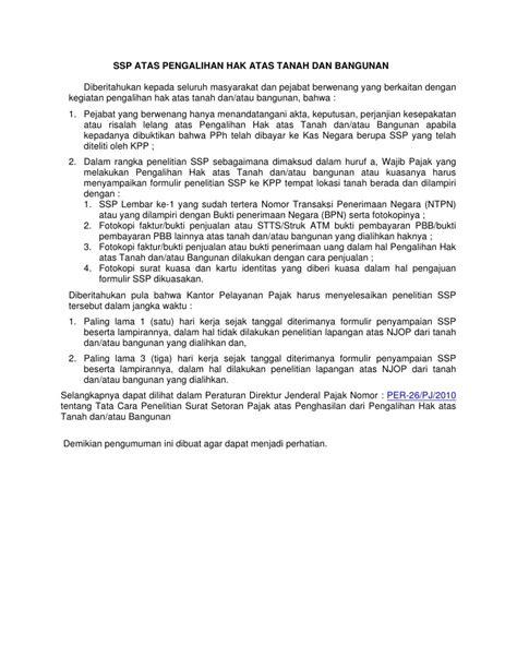 Peralihan Hak Atas Tanah Dan Pendaftaraannya per 26 2010 kewajiban pph atas peralihan hak tanah dan