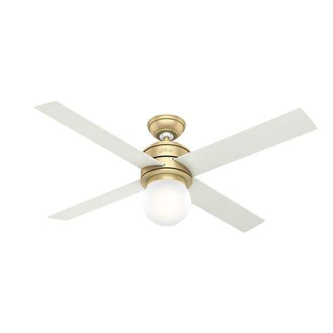 modern ceiling fans home depot hunter hepburn 52 in led indoor modern brass ceiling fan