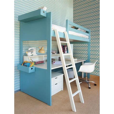lit mezzanine avec bureau lit solde mundu fr