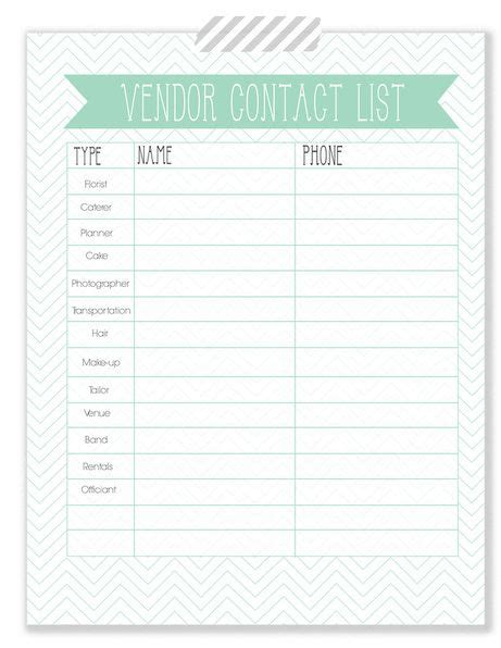 wedding vendor checklist template the woodlands wedding wedding planner vendor contact