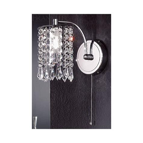 crystal bathroom wall lights franklite fl2138 1 crystal bathroom wall light at
