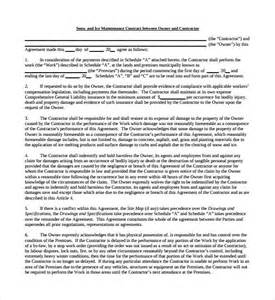 snow removal contract template free snow plowing contract template 7 free